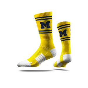 Michigan Classic Maize Crew Socks