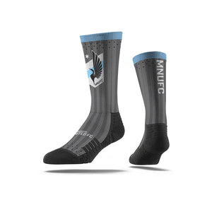 Minnesota United Charcoal Stripe Socks