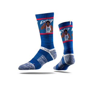 Joel Embiid For Three Blue Crew Socks