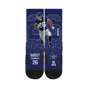 Saquon Barkley Rush Blue Socks