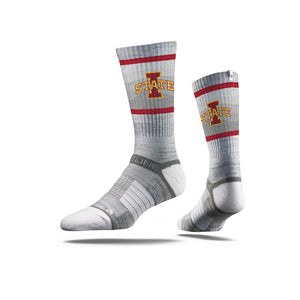 Iowa State Cyclones Grey Crew Socks
