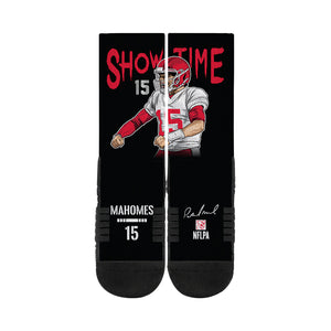 Pat Mahomes Showtime Black Socks