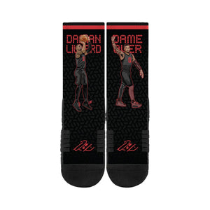 Damian Lillard Black Socks