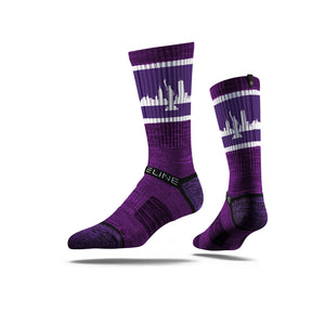 New York City Skyline Retro Purple Photo