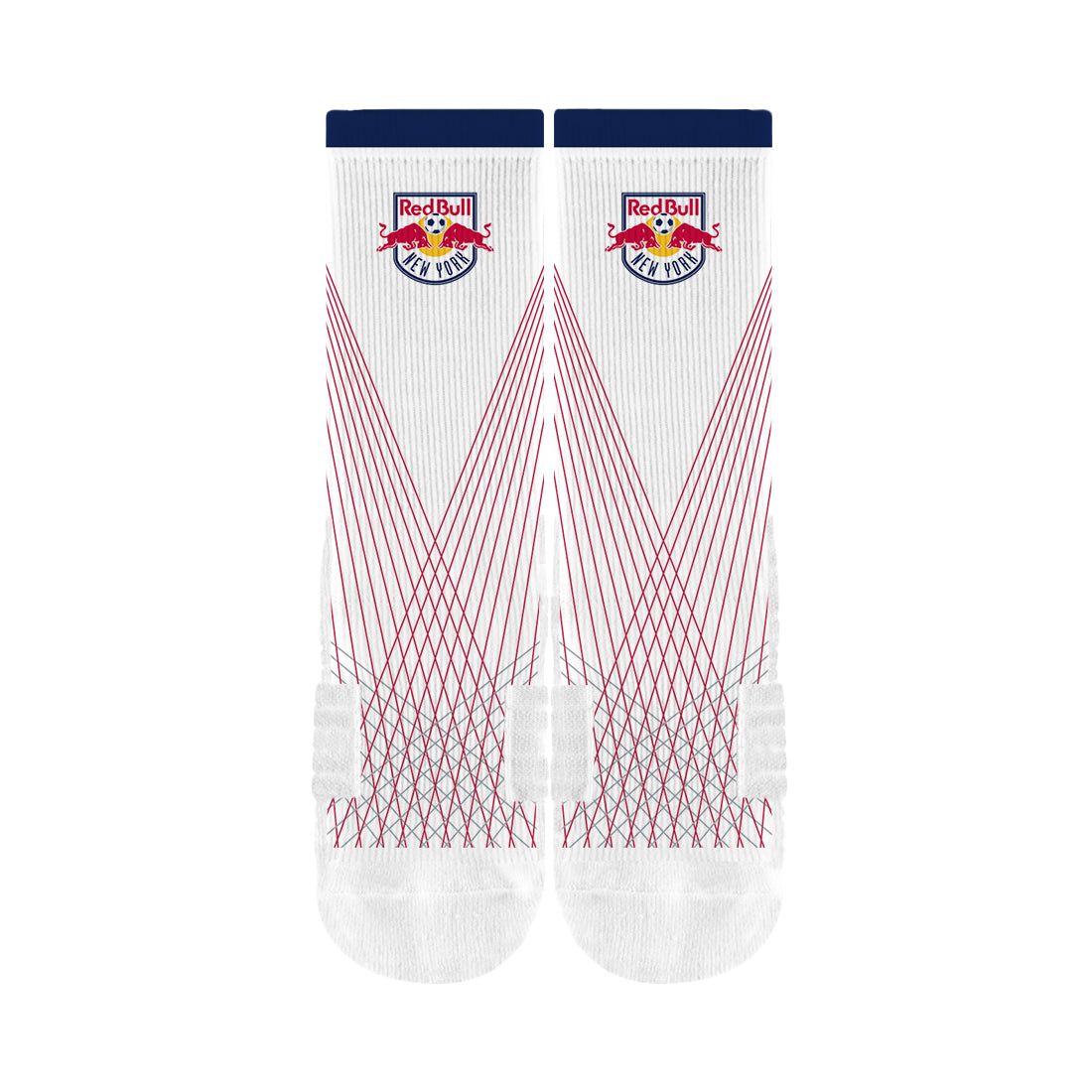 New York Red Bulls White/Red Cable Premium Crew