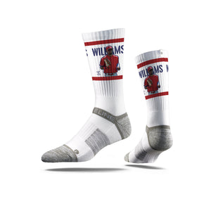 Nick Williams Face White Crew Socks
