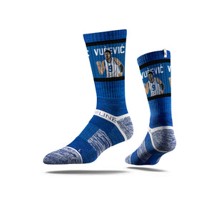 Nikola Vučević Fist Pump Blue Crew Socks