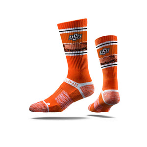 Oklahoma State Cowboys Boone Pickens Stadium Orange Crew Socks