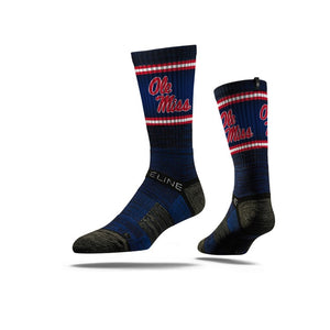 Ole Miss Rebels Navy Crew Socks