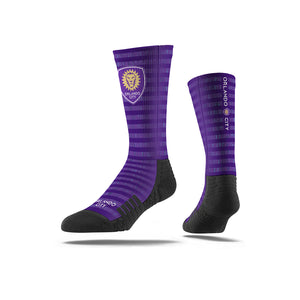 Orlando City SC Purple/Black Stripe Socks