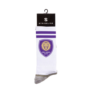 Orlando City SC White Logo Socks