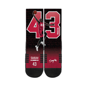 Pascal Siakam Dunk Black Premium Digital Print Socks