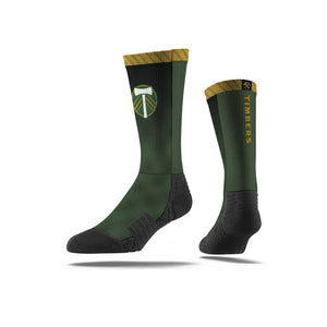 Portland Timbers Green/Black Plaid Socks
