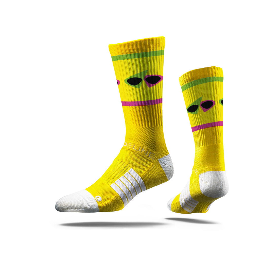 Roy Purdy Glasses Yellow Socks