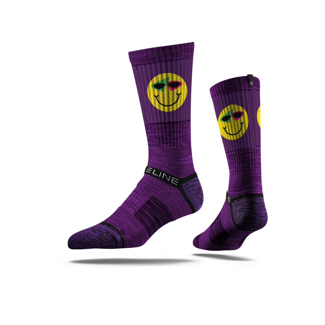 Roy Purdy Purple Smile Socks