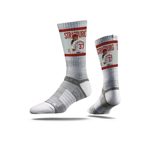 Stephen Strasburg Ace Grey Crew Socks