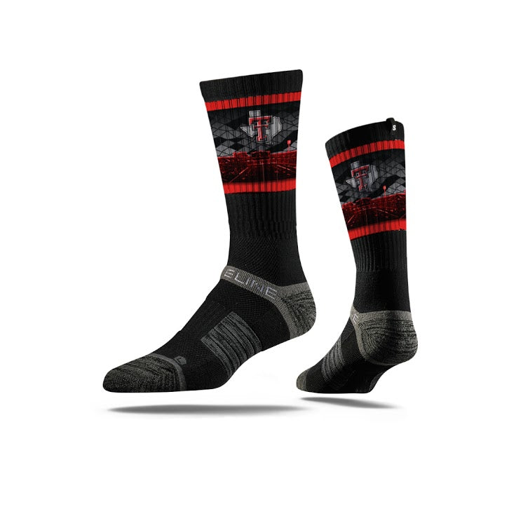 Texas Tech University Black Stadium Crew Socks