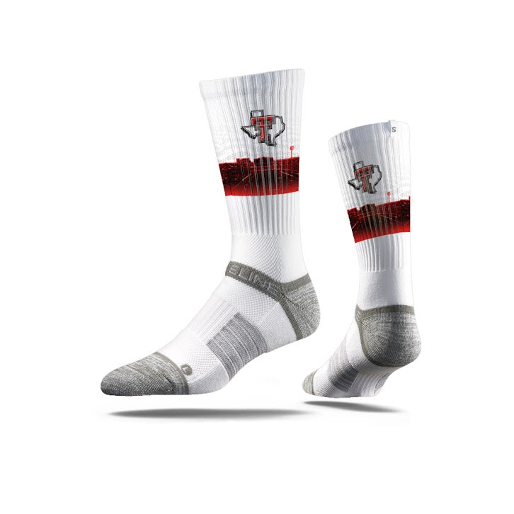 Texas Tech University White Stadium Crew Socks