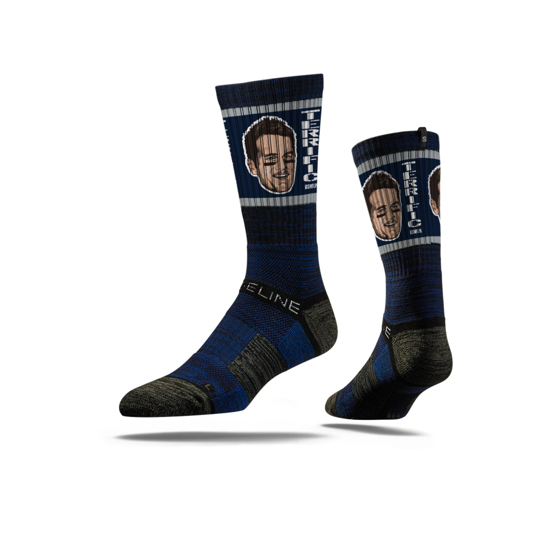 Terrific Tom Brady Face Navy Socks