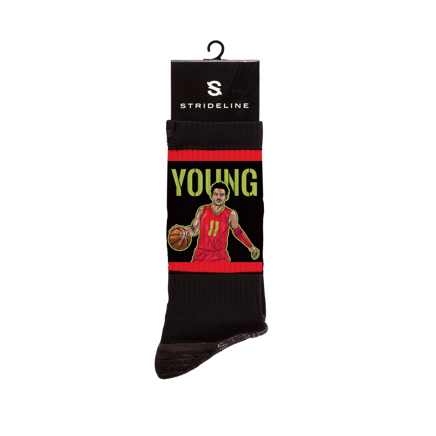 Trae Young Handels Black Crew Socks