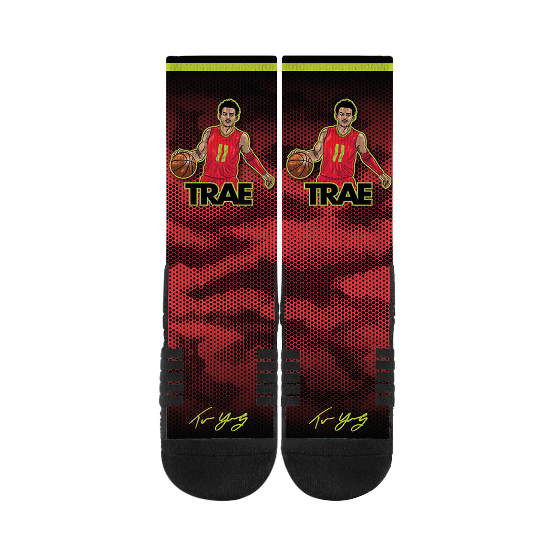 Trae Young Handels Red Black Socks