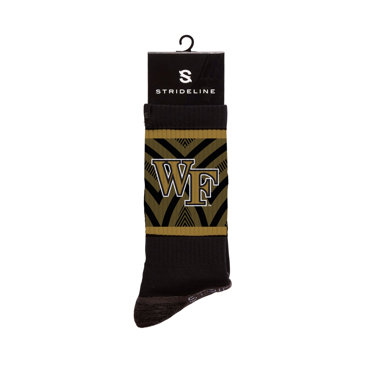 Wake Forest Demon Deacon Black Crew Socks