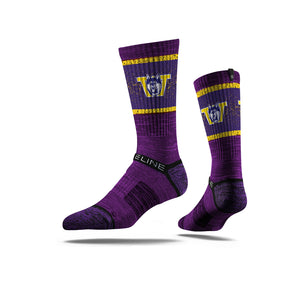 Washington Huskies Retro Husky Speckle Purple Crew Socks