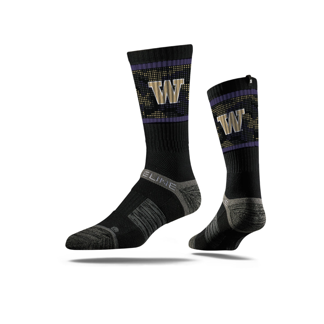 University of Washington Huskies Camo Dot Socks