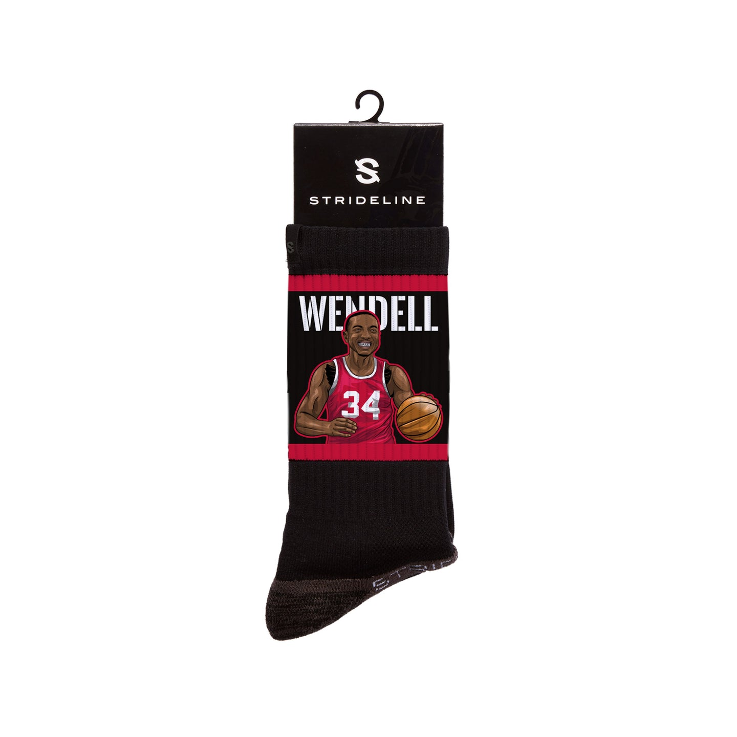 Wendell Carter Jr. Action Black Crew Socks