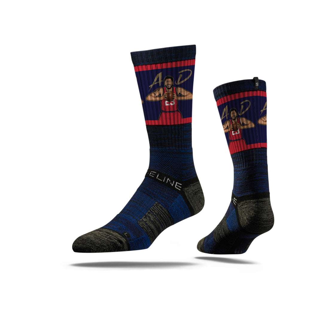 Anthony Davis Rebound Navy Crew Socks