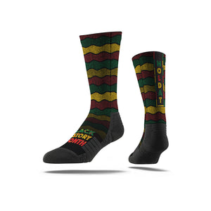 Nate Rob BHM Wavy Full Print Socks