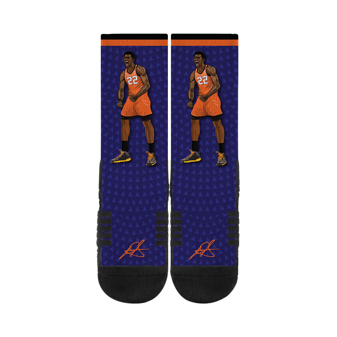 Deandre Ayton Amped Purple Socks