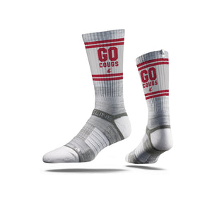 Washington State Go Cougs Grey Crew Socks