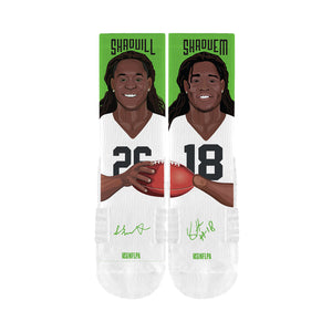 Shaquem & Shaquill Griffin Brother Socks