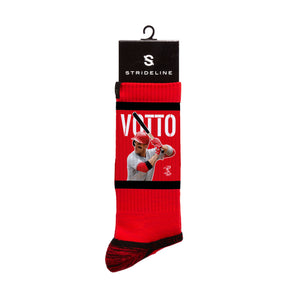 Joey Votto At Bat Red Crew Socks