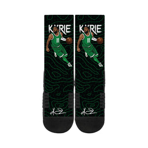 outlet store 63fac 8b7a4 Kyrie Irving Handles Black Socks – Strideline