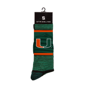Miami University Hurricanes Green Wave Socks