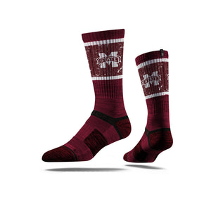 Mississippi State University Maroon Socks