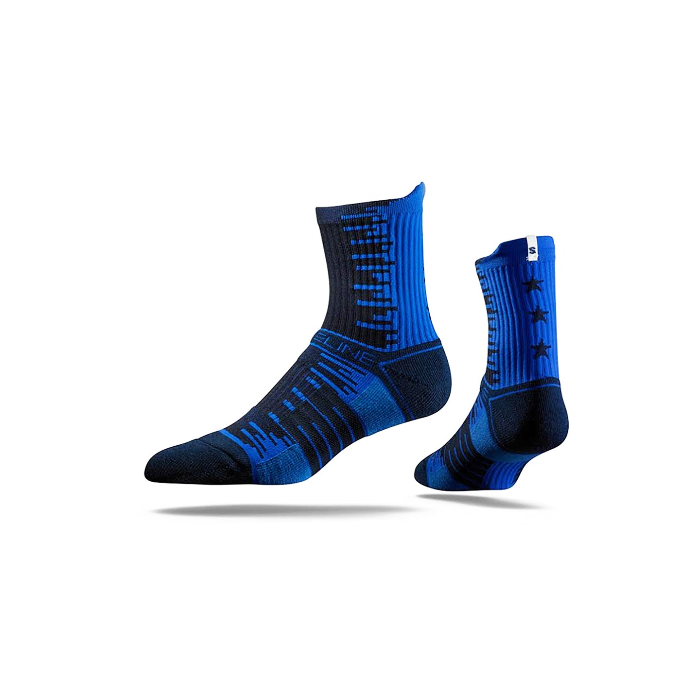 Navy Star Mid Sock