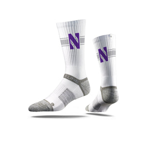 Northwestern N White Crew Socks