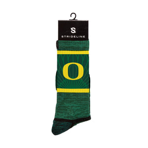Oregon Ducks O Green Crew Socks