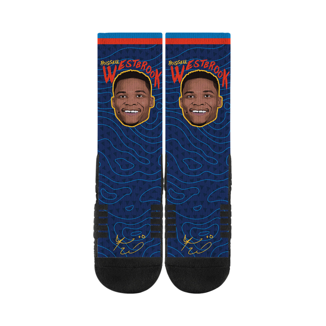 Russell Westbrook Game Face Navy Socks