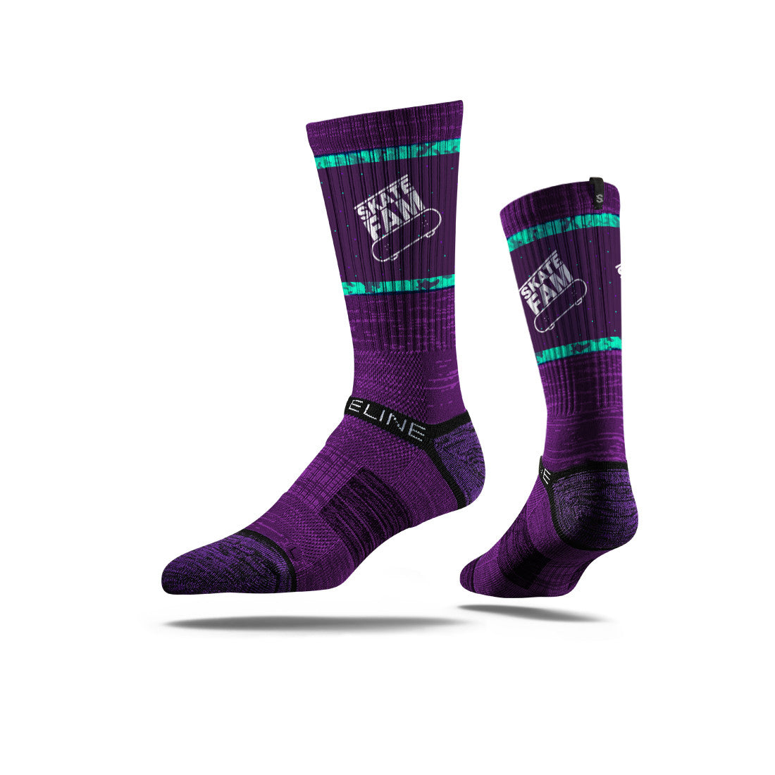 Skate Fam Purple/Teal Logo