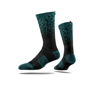 Particle Teal Black Sock