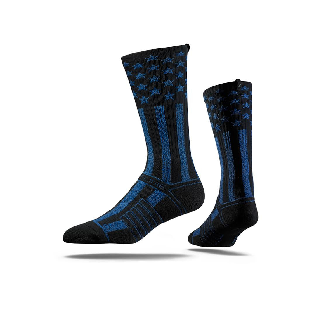 Stars and Stripes (Blue on Black)