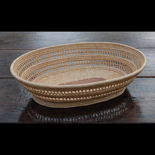 2-6Oval BOWL Open Weave Deluxe Centerpiece