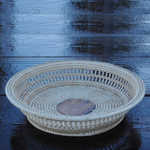 3-2W TRAY w/ Palm Leaf Center - Large