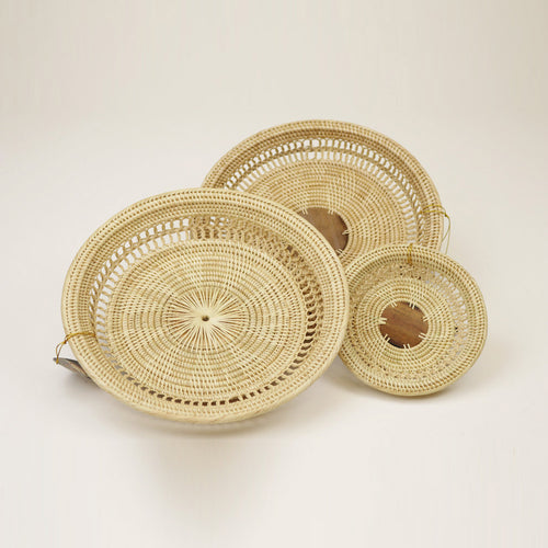 3-2 TRAY Round Tray No Palm Leaf Center