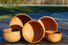 S2-9S5 Smoked - Set of 5 Nested Round Bottom Bamboo Bowls