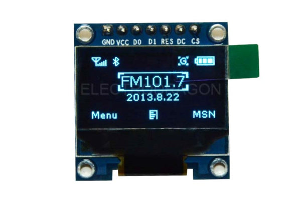 0.96″ OLED Display Module Blue – SPI/I2C – 128×64 – 7 Pin